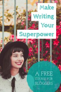This is a fantastic course for bloggers. And it's free!