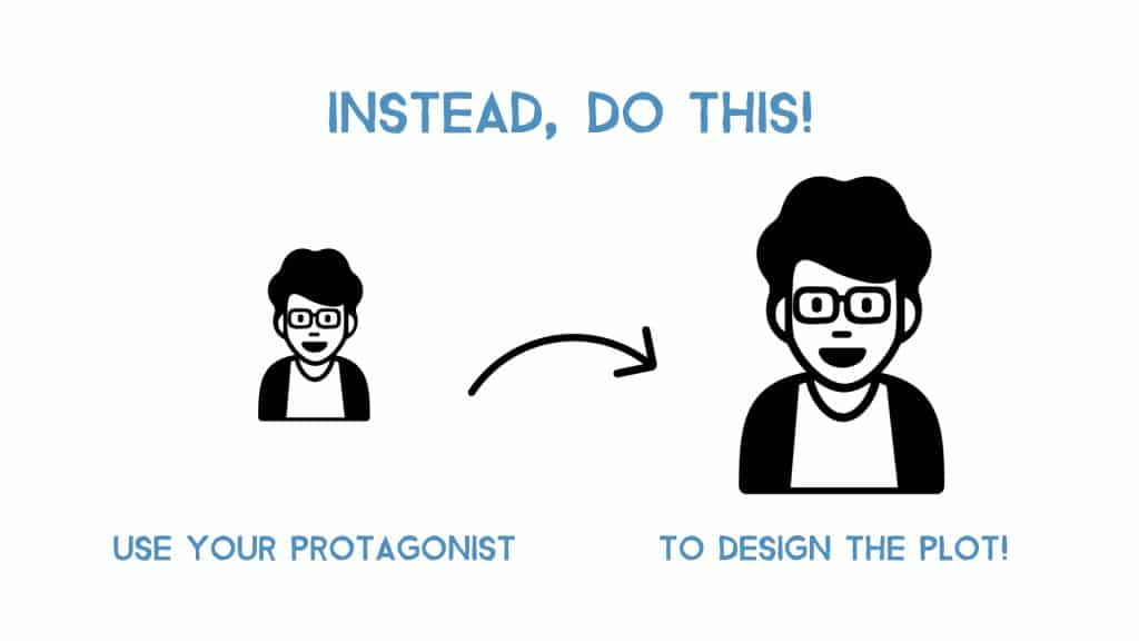 instead, build the plot from your protagonist