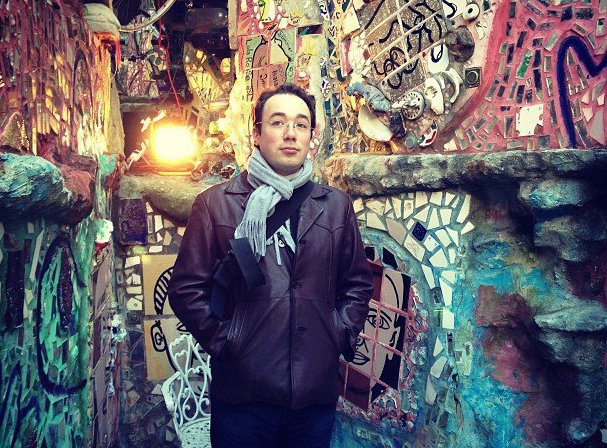 Taken in the Magic Gardens of Philadelphia. Me Looking Creative